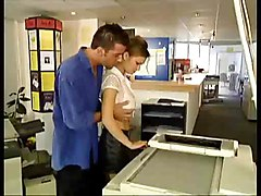 Busty Russian Beauty Fucked At The Photocopiers   Nm17
