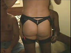 Hubby Shares His Wife With 2 Black Guys