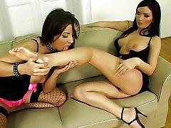 Maria And Lora Make A Horny Guy Cum Twice