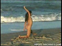 Nude Beach Yoga By Anahi Flores