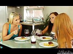 Lesbians Drink Wine Then Taste Each Other