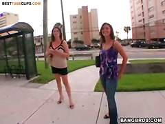 Busty Street Girl In Hard Autobang