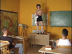 Student Gets Fucked By Two Guys