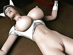 3d Busty Chained Sci Fi Babe