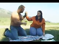 Sexy Thick Chubby Girl Fucks Outdoors
