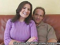 Sharing My Wifes Big Tits
