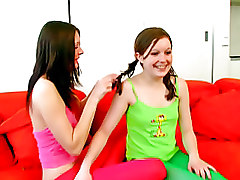 Two Lesbians Licking With Pleasure