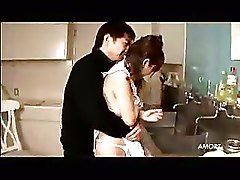 Japanese Hosuewife Get Fucked In Kitchen