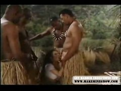 Four Natives And One Horney Girl In Fantasy Sex