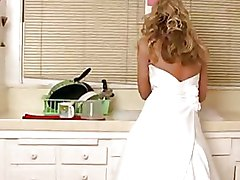 Sexy Blonde Bride In White Gown Gets Fucked In Pussy