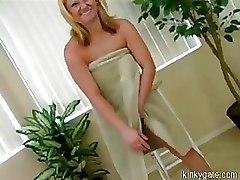Kinky Ass Toying Blonde Monica