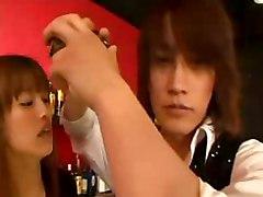 Japanese Slut Seduces A Bartender