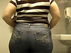 Big Ass In The Mall Bathroom
