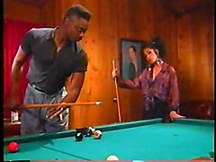 Ebony Couple Prefers Fucking To Billiards