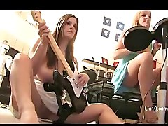 Lia 19 Plays Rock Band With Danielle