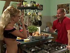 Blond German In Kitchen