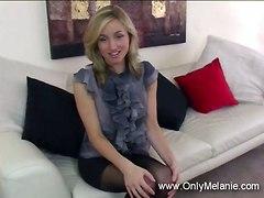 Melanie In Black Pantyhose