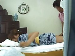 Young Wife Home Massage