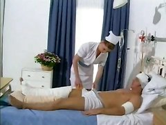 British Nurse Taking Advantage Of Her Patient
