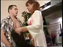 Aunt And Nephew Fuck In The Kitchen
