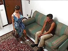 Italian Busty Housewife In A Hot Threesome