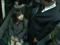 Naughty Schoolgirl On Public Train