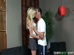 Blonde Chick Angela Stone Showing How Good She Is In Giving A Bj