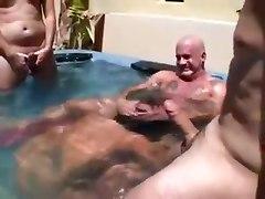 Summertime Pool Gangbang