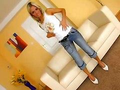 Blonde Babe Goes Wild!