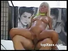 Blonde Is All Drenched In Cum!