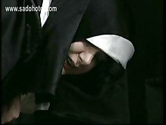 Older Priest Lift Up Skirt Of Naughty Screaming Nun And Spanks Her On Her Ass