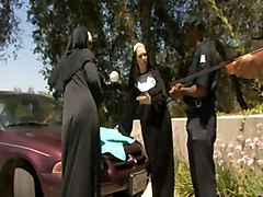 Two Black Cops Fuck 2 White Nuns
