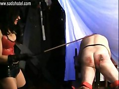 Mistress With Trained Body And Big Tits Spanks Bend Over Slave Hard On His Ass