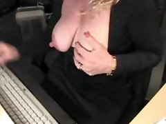 Amateur Milf Teasing Her Big Nipples And Clit