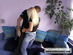 Hot German Gina Gets Fucked On The Couch