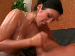 Oiled Girl Gets Ravaged By Big Cock