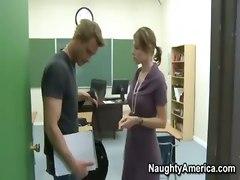 Teacher Makes Her Student Cum Twice!