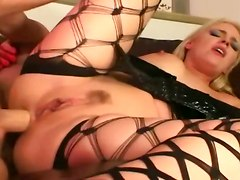 Hard Analsex For Kitty In Latex And Fencenets