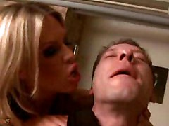 Tranny In Latex Boots Plays With A Chap
