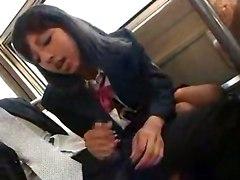Hot Handjob In Train