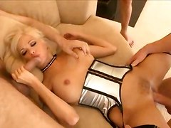 Gangbang For Posh Blonde In Belt