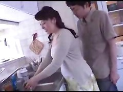 Japanese Boy Attack Confused Girlfriends Mother In Kitchen