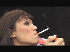 Smoking Beautiful Transex Screw Hard