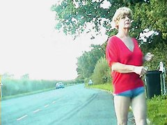 Zoe Transvestite Bitch In Bumless Hot Pants On The Streets