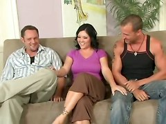 Busty Claire Dames Cheats With 2 Guys