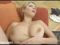 Big Naturals Newcomer Fucked On Couch