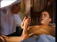 Nun Tastes Sinners Dick!