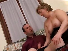 Chubby Mature Rides Cock
