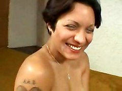 Shorthaired Mature Getting A Good Facial