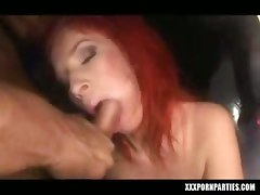 Marsha Lord Blowing A Cock At A Party